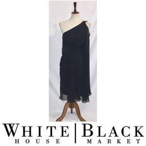 1 Shoulder Black Dress White House Black Market
